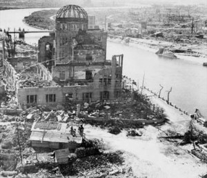 Hiroshima following the dropping of the atomic bomb on 6 August