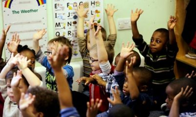 Children playing at nursery school