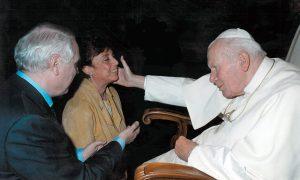 con Giovanni Paolo II
