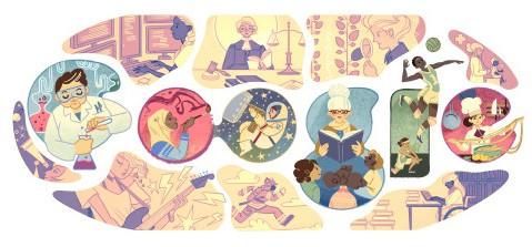 Google, il doodle dell'8marzo