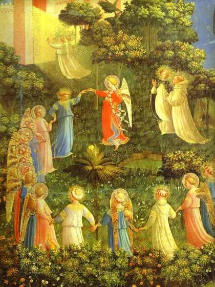 Beato Angelico, La danza dei santi -  Museo di San Marco  Firenze