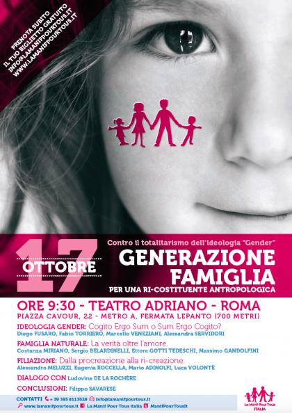 Generazione Famiglia 17 ottobre Roma