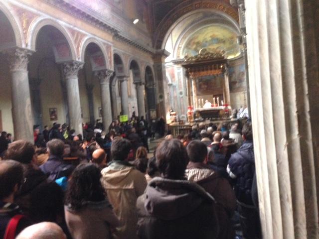 La Messa prima della manifestazione con tanti tanti amici
