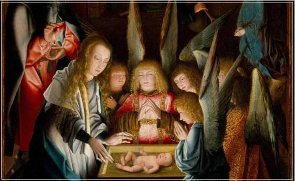 Un dipinto fiammingo del XVI secolo esposto in questi giorni al Met di New York. Si vedono un angioletto e un pastorello affetti dalla sindrome di Down