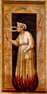 Invidia - Giotto - Cappella degli Scrovegni