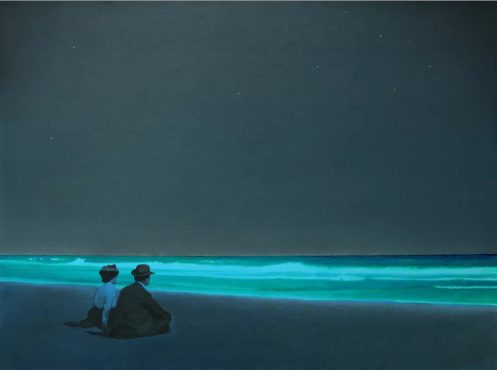 Devin Leonardi Two Friends on the Shore of Long Island, 2009 Acrylic on paper
