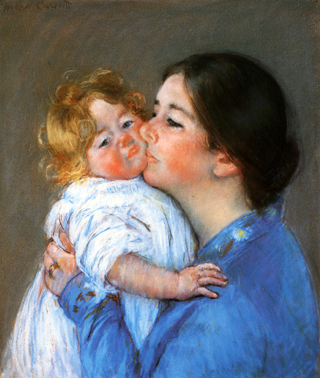 Mary Cassat - A Kiss For Baby Anne: ca 1897