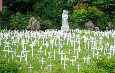 Korea, cemetery for aborted babies
