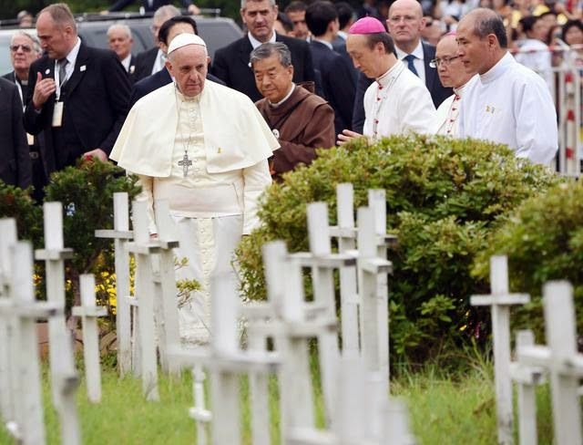 In Korea, Pope Francis to visit cemetery for aborted babies